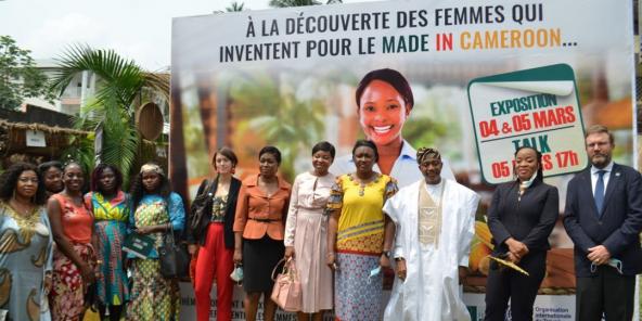 """Le Gicam a organisé l'exposition «Comment mieux développer la production locale et faire représenter les femmes qui valorisent le """"made in Cameroon"""" » les 4 et 5 mars."""
