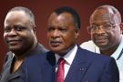 Mathias Dzon, Denis Sassou Nguesso, et Guy Brice Parfait Kolelas, candidats à la présidentielle du 21 mars 2021 au Congo.