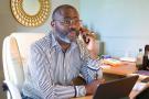 Mike Jocktane, dirigeant du Mouvement pentecôtiste et charismatique du Gabon..