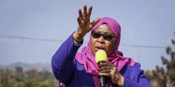 La vice-présidente de Tanzanie, Samia Suluhu Hassan, le 16 mars 2021.