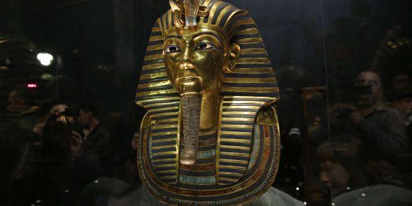 Le masque d'or de Toutankhamon au musée égyptien du Caire, en 2015.