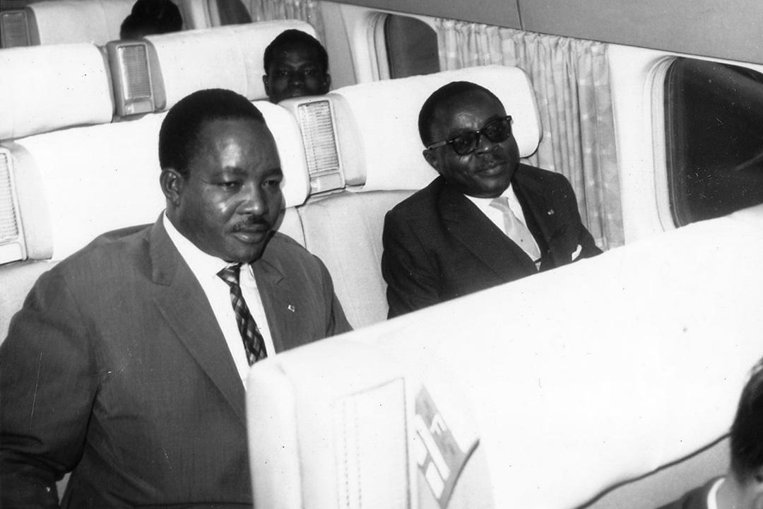 Le président de laRépublique de Haute-Volta, Maurice Yameogo.