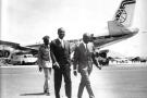 François Tombalbaye, président du Tchad, et Léopold Séder Senghor, président du Sénégal.