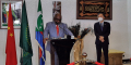 Azali Assoumani, président des Comores, lors de la réception de doses de vccin offertes par la Chine.