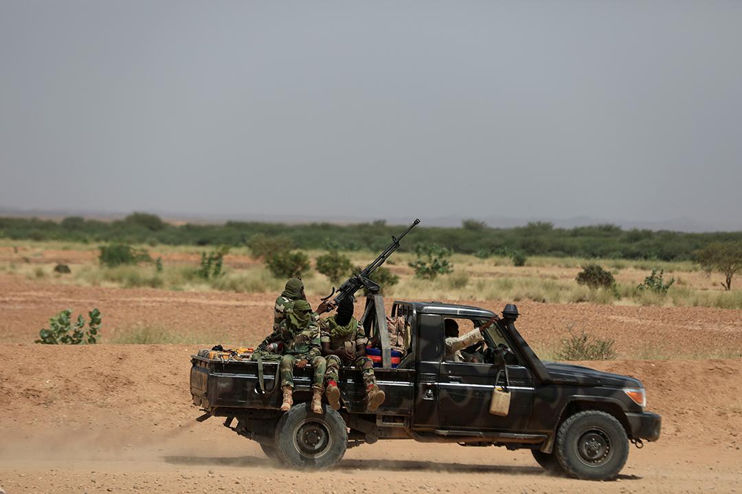 Une patrouille nigérienne près d'Agadez.
