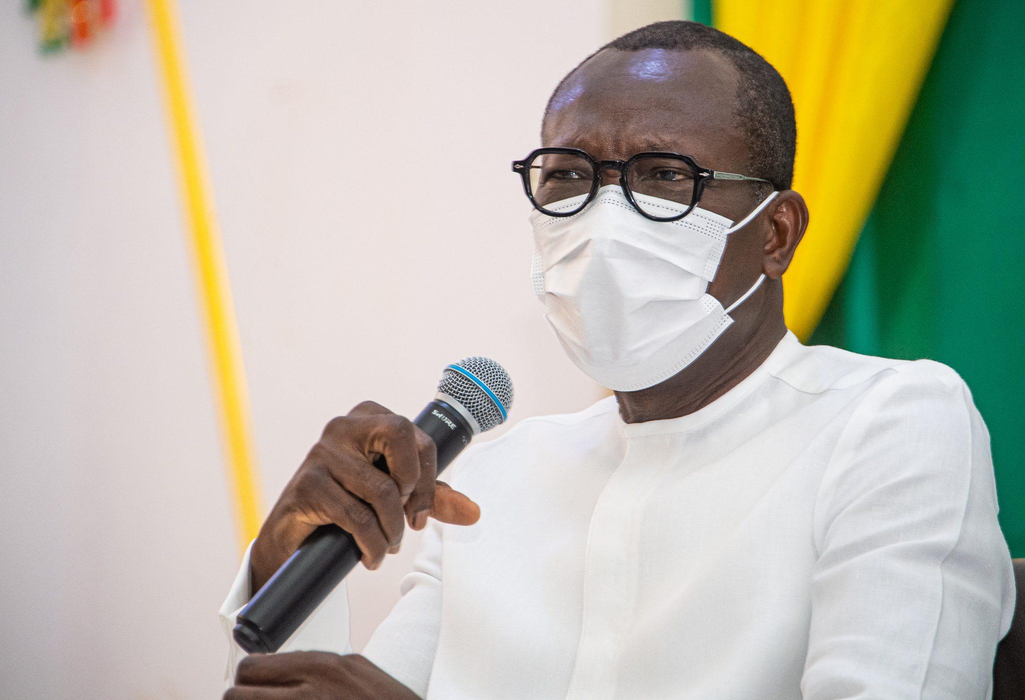 Le président béninois Patrice Talon à Tanguiéta, le 10 janvier 2021.