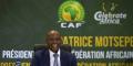 Le nouveau président de la CAF, le Sud-Africain Patrice Motsepe, le 16 mars 2021 à Johannesburg.