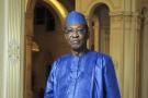 Idriss Déby Itno, au palais présidentiel de N'Djamena.