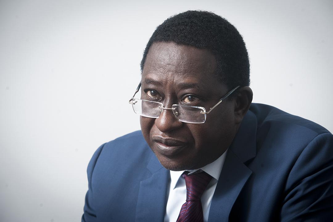 Soumaïla Cissé, ancien ministre des Finances, ex-dirigeant de l'URD, est mort le 25 décembre (ici à Paris, le 26 octobre 2020).
