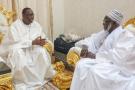 Macky Sall et le khalife général des mourides, Serigne Mountakha Bassirou Mbacké, à Touba, en août 2018