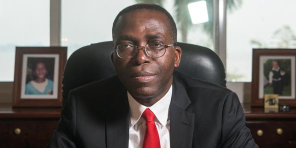 Augustin Matata Ponyo, l'ancien Premier ministre congolais (ici à Kinshasa, en 2014).