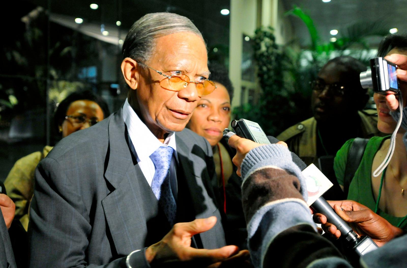 Didier Ratsiraka, l'ancien président malgache ici photographié en 2009, est décédé le 28 mars 2021 à Antananarivo.