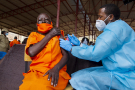 Vaccination contre le Covid-19 à Kigali (Rwanda), le 10 mars 2021.