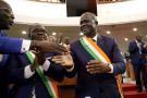 Amadou Soumahoro, lors de son élection à la tête de l'Assemblée nationale ivoirienne, en mars 2019 (archives).