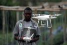 Des drones utilisés dans une plantation de tomates, dans le nord d'Abidjan.