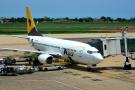Un Boeing 737-7K9 d'Asky à l'aéroport international de Lomé-Tokoin.