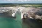 Site de construction du projet gazier au Mozambique.