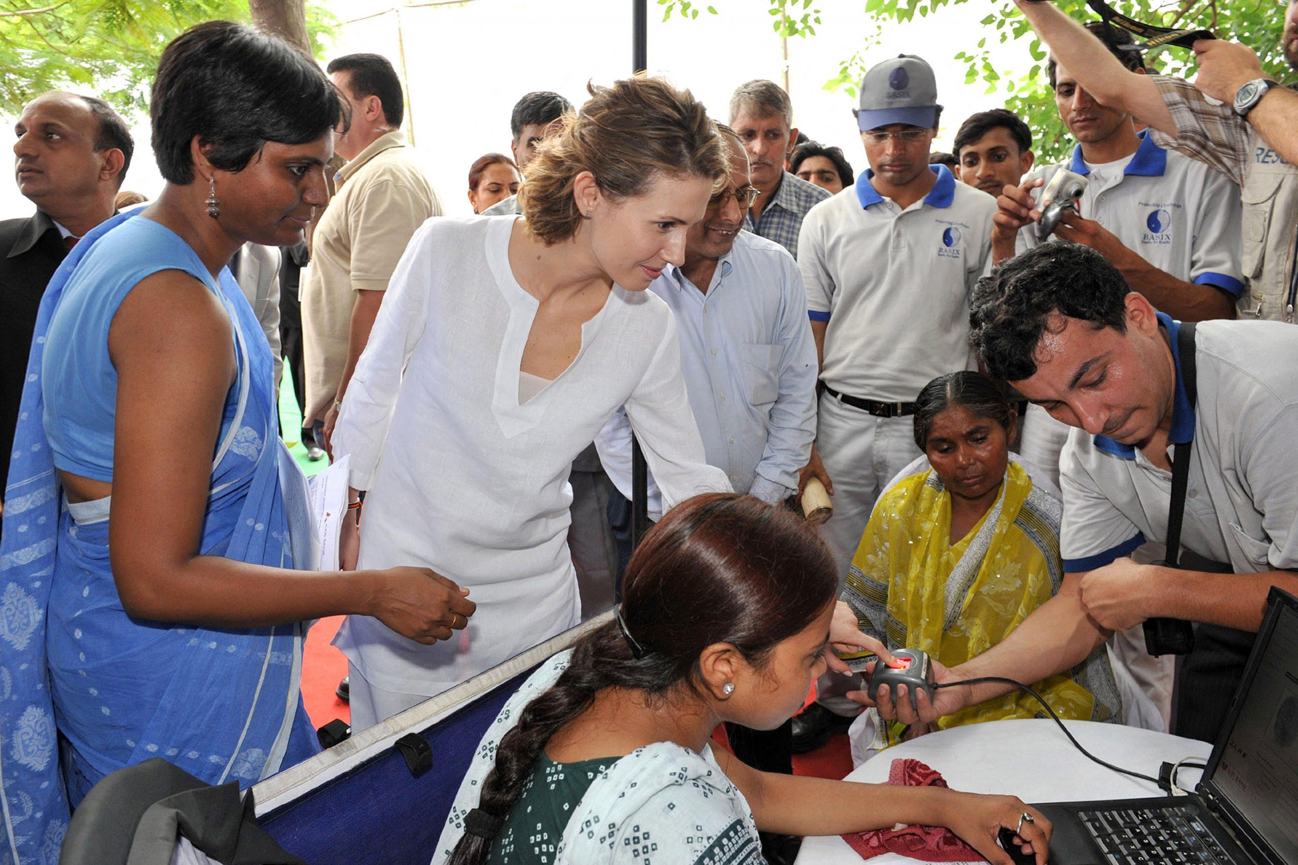 Asma al-Assad à New Delhi, le 18 juin 2008.