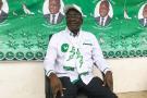 Albert Pahimi Padacké en campagne au stade Idriss Mahamat Ouya de N'Djamena, le 19 mars 2021.