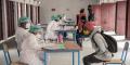 Dans le centre médical consacré au Covid-19 d'Andohatapenaka, à Antananarivo, le 20 juillet 2020.