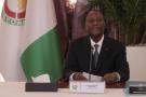 Alassane Ouattara, lors du conseil des ministres du 7 avril 2021.