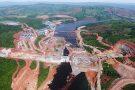 Le chantier du complexe hydroélectrique de Souapiti, construit par China International Water&Electric Corporation (CWE), sur le Konkouré.