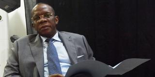 Le Premier ministre guinéen Ibrahima Kassory Fofana, à la primature.