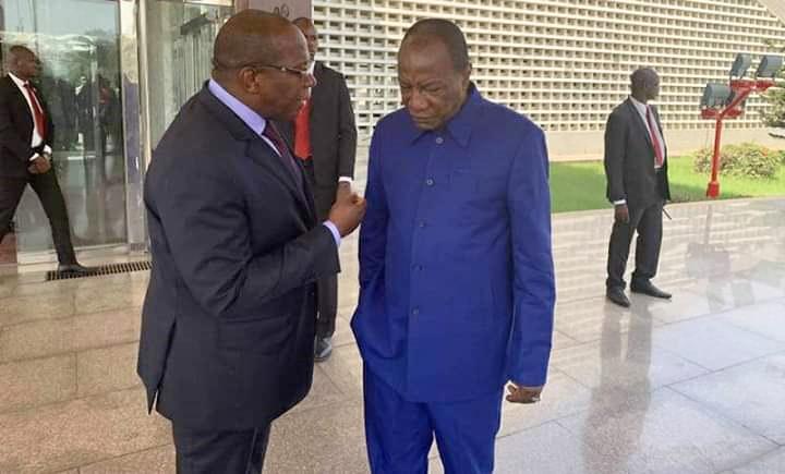 Le Premier ministre Ibrahima Kassory Fofana et le président Alpha Condé.