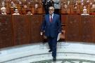 Abdelilah Benkirane, alors chef du gouvernement marocain, au Parlement, à Rabat, le 9 juillet 2014.