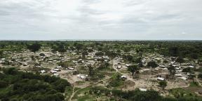 Une photo aérienne, en février 2021, de Tara Tara à Matuge, dans le nord du Mozambique