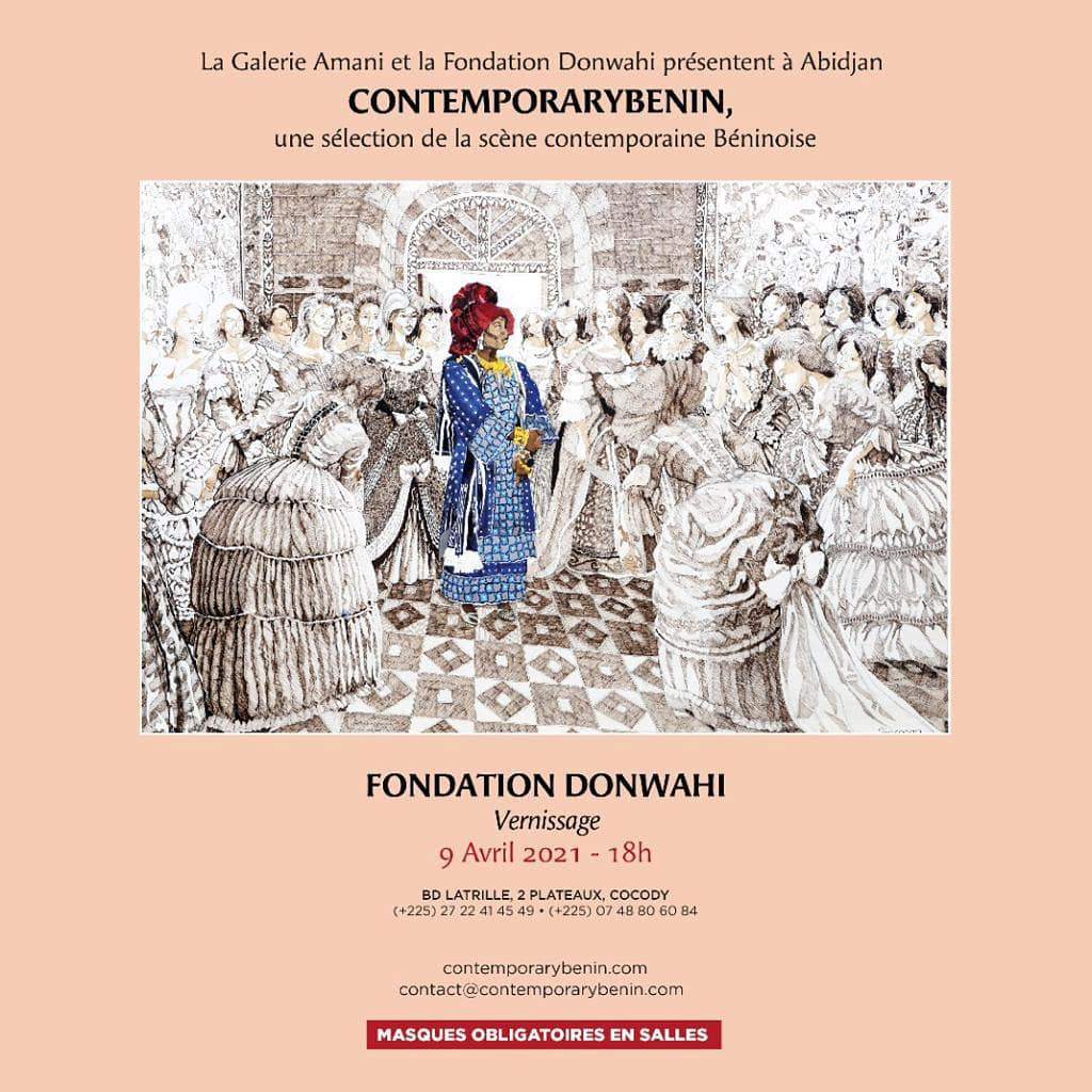 Affiche de l'exposition itinérante «Contemporarybenin».