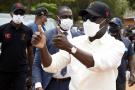 Le président du Bénin, Patrice Talon, le 9 avril 2021 lors de sa campagne électorale pour obtenir un second mandat.