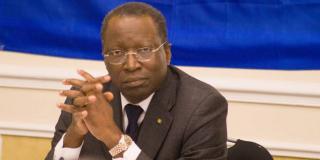 L'opposant gabonais Charles M'Ba.