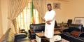 Lamine Seydou Traoré dans son bureau à la cité ministérielle de Bamako, Mali, le13avril2021.