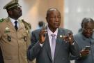 Le président guinéen Alpha Condé au siège de l'Union africaine, à Addis-Abeba, en février 2020.