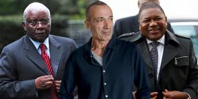 Armando Guebuza (à g.) et Filipe Nyusi à dr.), respectivement ex- et actuel président mozambicain, avec Iskandar Safa (au centre), le PDG de Privinvest.
