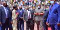 Félix Tshisekedi, le 9 avril 2021 à Kinshasa, lors du lancement des travaux des infrastructures pour les Jeux de la Francophonie.