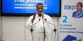 Denis Sassou Nguesso, à Brazzaville le 23 mars 2021.