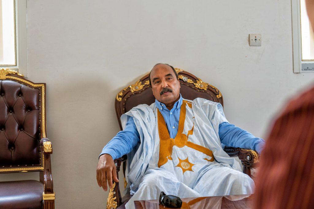 Mohamed Ould Abdelaziz, à Nouakchott, le 10 avril 2021.
