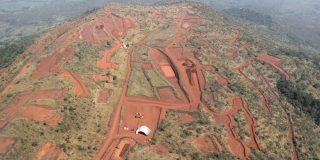 Vue du mont Simandou, dans le sud-est de la Guinée