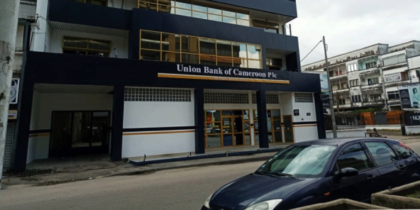 Une agence de Union bank of Cameroon.