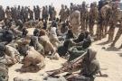 Des rebelles du Front pour l'alternance et la concorde au Tchad (FACT) à Nyze, à 50 km de Zigueye, le 17 avril 2021.