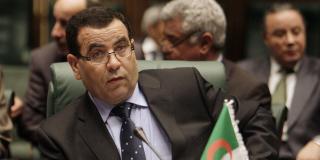 El Hachemi Djaâboub, alors ministre algérien du Commerce, assiste à la séance d'ouverture de la 22e session ordinaire de la Ligue arabe à Serte, en Libye, en mars 2010.