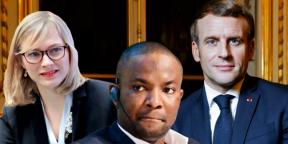 Stephan-Eloïse Gras, Kizito Okechukwu, Emmanuel Macron