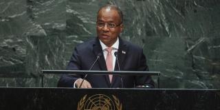 Ulisses Correia e Silva au siège des Nations Unies, le 27 septembre 2019.