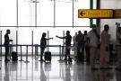 Terminal de l'aéroport Nnamdi-Azikiwe à Abuja (Nigeria).