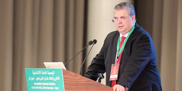 Le nouveau président de la Fédération algérienne de football, Charaf-Eddine Amara.