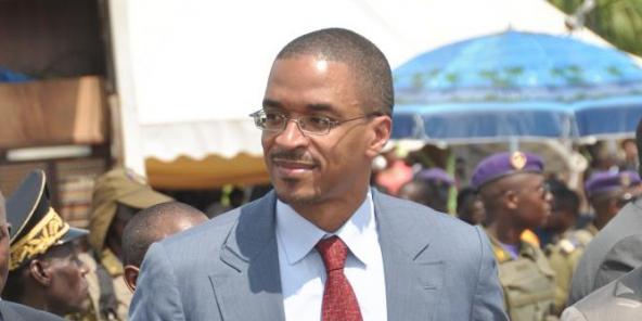 Franck Biya, lors d'un meeting à Douala, le 6 octobre 2011.