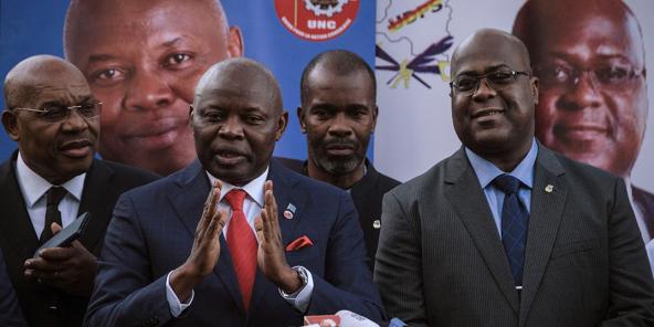 Vital Kamerhe et Félix Tshisekedi, le 23 novembre 2018. à Nairobi.