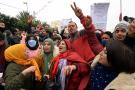 Une manifestation dans le centre de la Tunisie, le 17 décembre 2020.